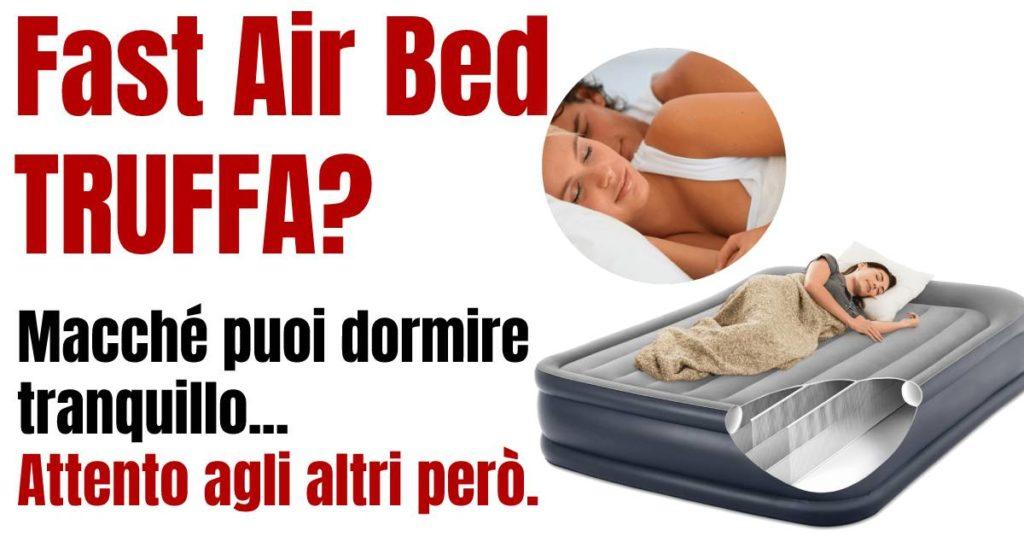 fast air bed, recensione materasso matrimoniale gonfiabile