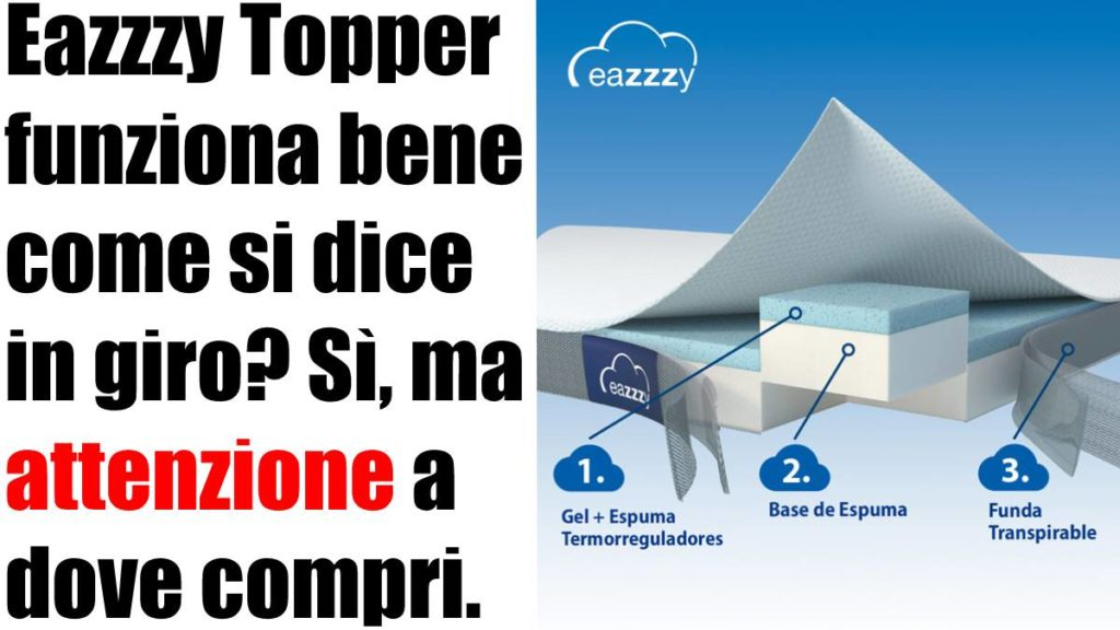 Eazzzy Topper recensione